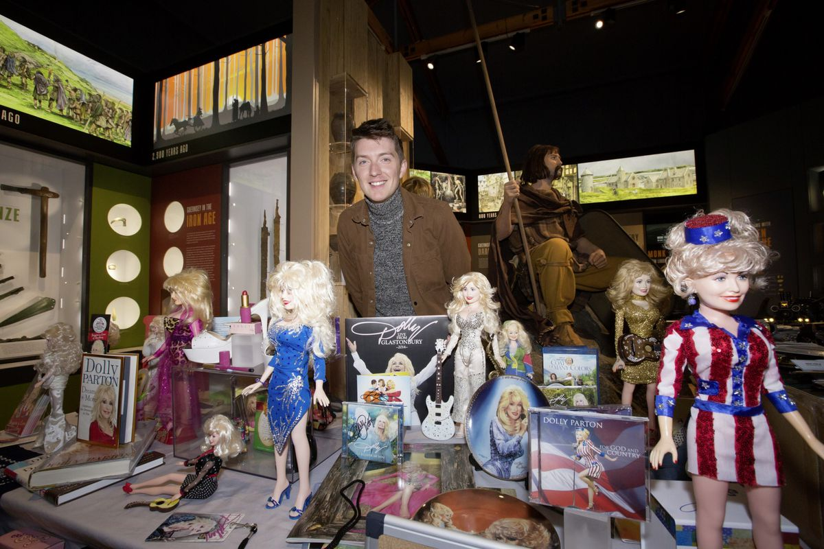 Lee Phillips-Smith with his Dolly Parton collection. (28734595)