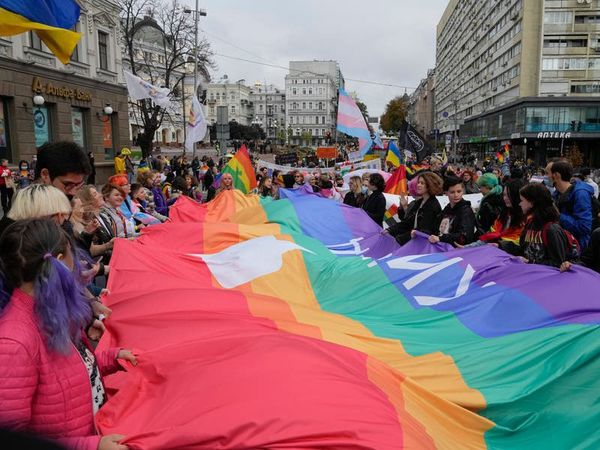 Thousands join protest in Ukraine capital for LGBT rights