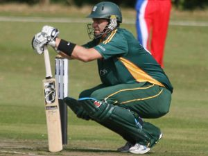 From player to coach: Lee Savident, pictured in the days when he opened the batting for Guernsey, is now national coach. (29775421)