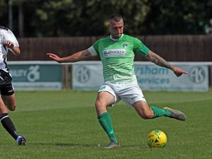 FOOTBALL BetVictor South-East League, Faversham Town v. Guernsey FC, 17-08-19. GFC. Jamie Dodd.Picture by ESA Photos. (28668775)