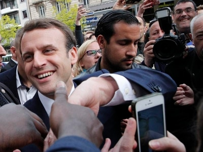 Anger over beating meted out by Emmanuel Macron's bodyguard to student