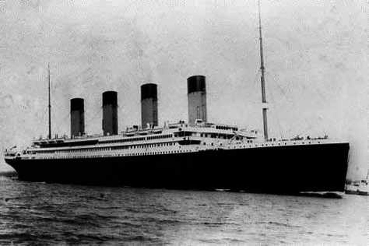 Alderney residents flocked to see Titanic pass by