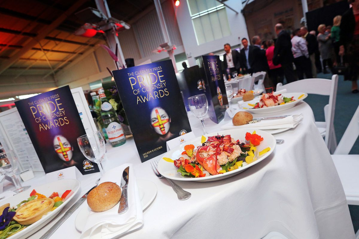 The Guernsey Press Pride of Guernsey awards transforms the office into a spectacular venue for the event. (Picture by Tom Tardiff, 28392793)