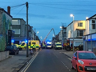 Two freed from rubble after gas explosion at guest house