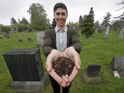 Washington becomes first US state to allow composting of human bodies