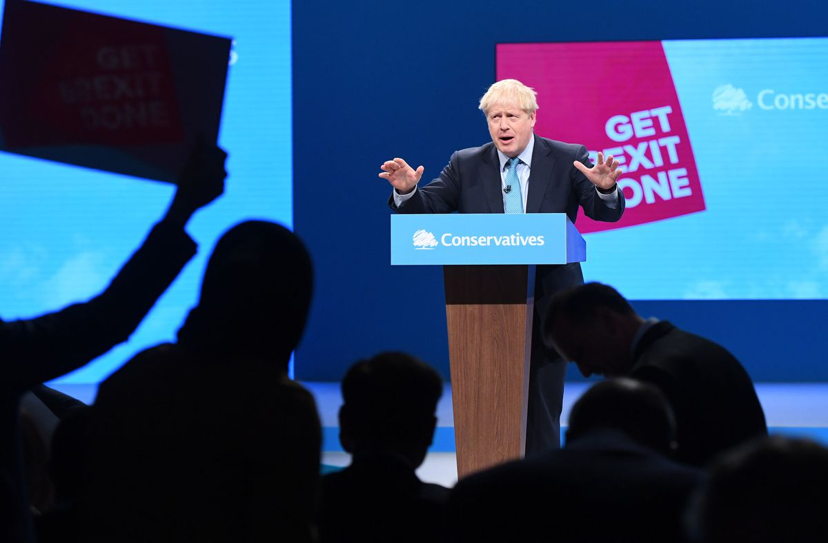 Prime Minister Boris Johnson at the Conservative Party Conference. (Picture by Stefan Rousseau/PA Wire)