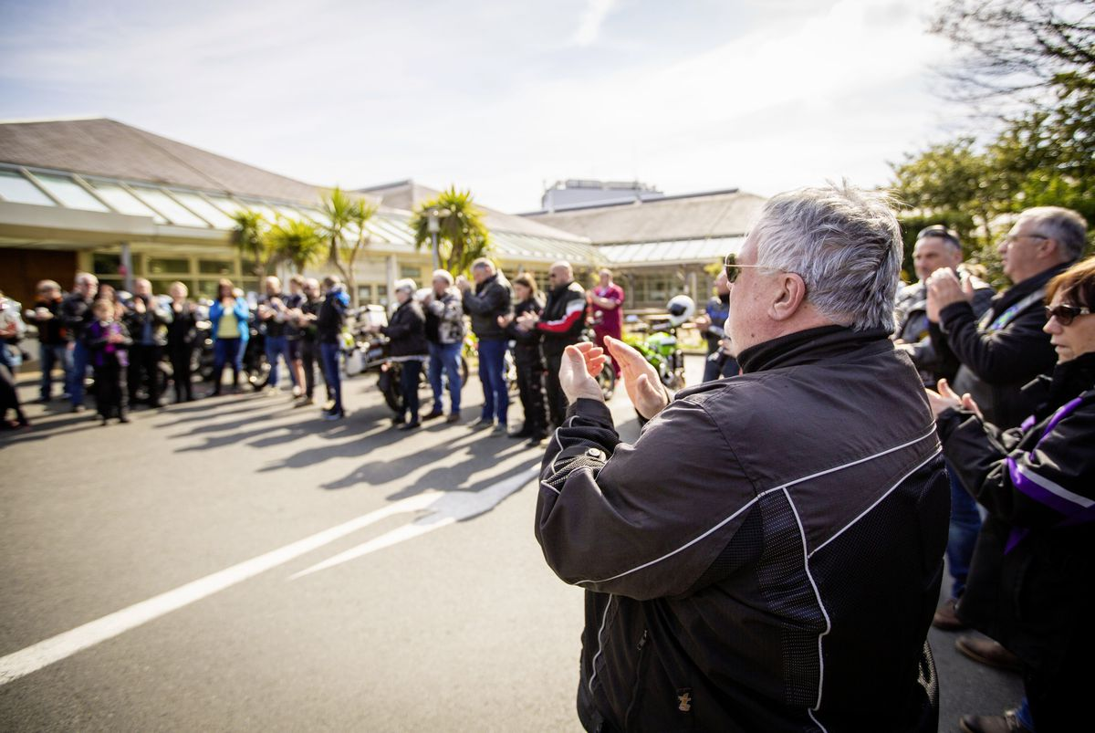 The Guernsey Bikers Group held an Out of Lockdown ride, rasing money for Guernsey Mind. They started at Vistas at Vazon and ended the ride at PEH. (29452066)