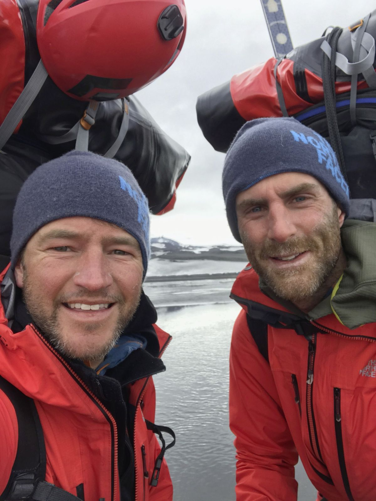 Gareth Andrews, left, with expedition partner and brother-in-law Richard Stephenson. (28801608)