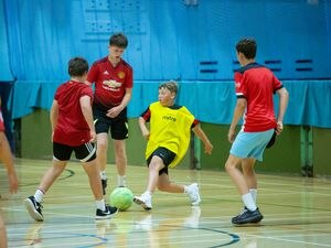 The Guernsey Sports Commission, which is holding football tournaments at Beau Sejour this week as part of its On Your Marks initiative, will deliver PE in primary schools for the next five years. (Picture by Peter Frankland, 28575509)