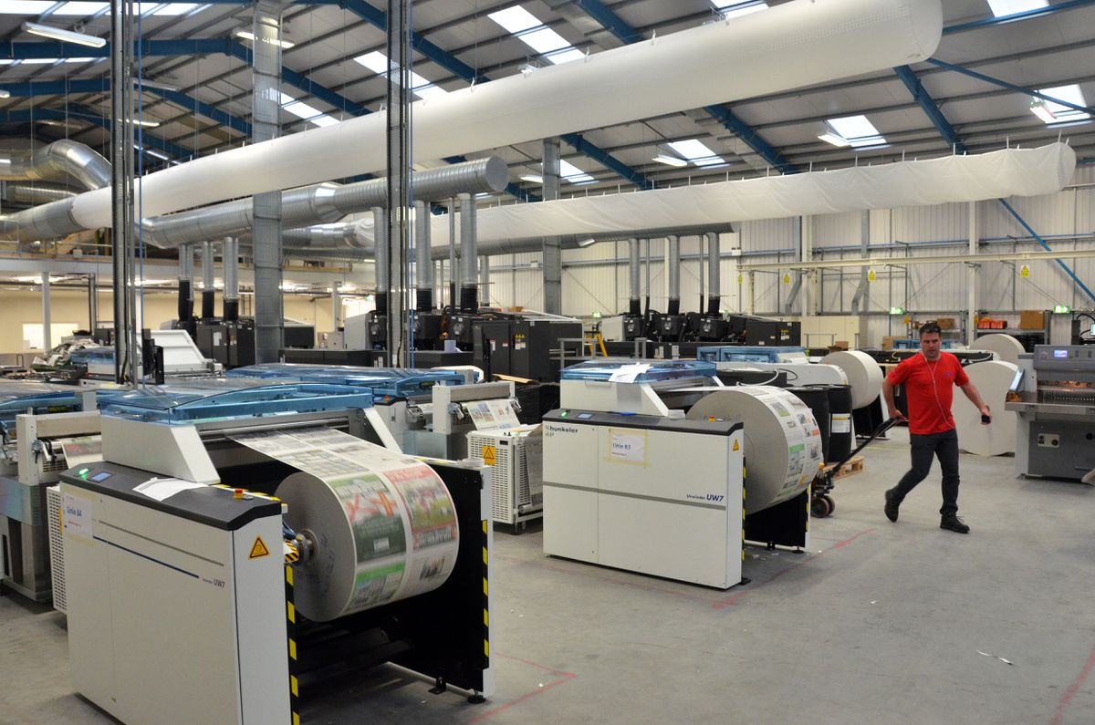 The digital press in Jersey which prints the national newspapers. (30071827)