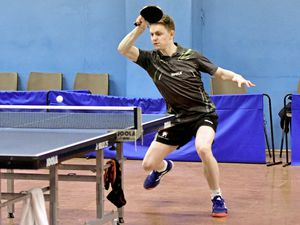 Island Table Tennis Championships finals night, 29-03-19. Lawrence Stacey Picture by Mark Windsor (24288160)