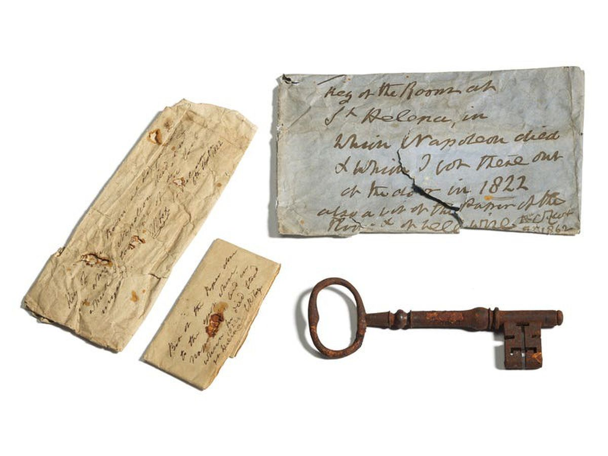 Key which unlocked Napoleon's prison bedroom sold at auction
