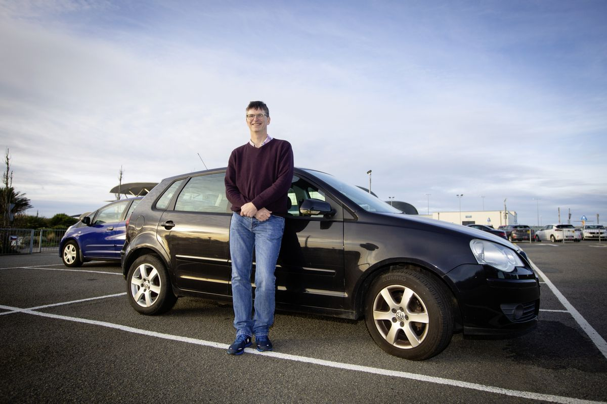 The first flight back from Manchester for students arriving in Guernsey. John Halliday had brought up his daughter's car for her to drive to self-catering facilities. (Picture by Cassidy Jones, 28971169)