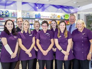 The staff at Healthcare Pharmacy in St Martin's. (Picture by Sophie Rabey, 28566687)
