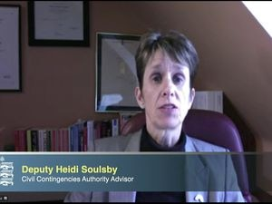 Civil Contingencies Authority advisor Deputy Heidi Soulsby, pictured during one of the virtual press briefings, said that the reasoning behind the travel zones would be explained today. (29547209)