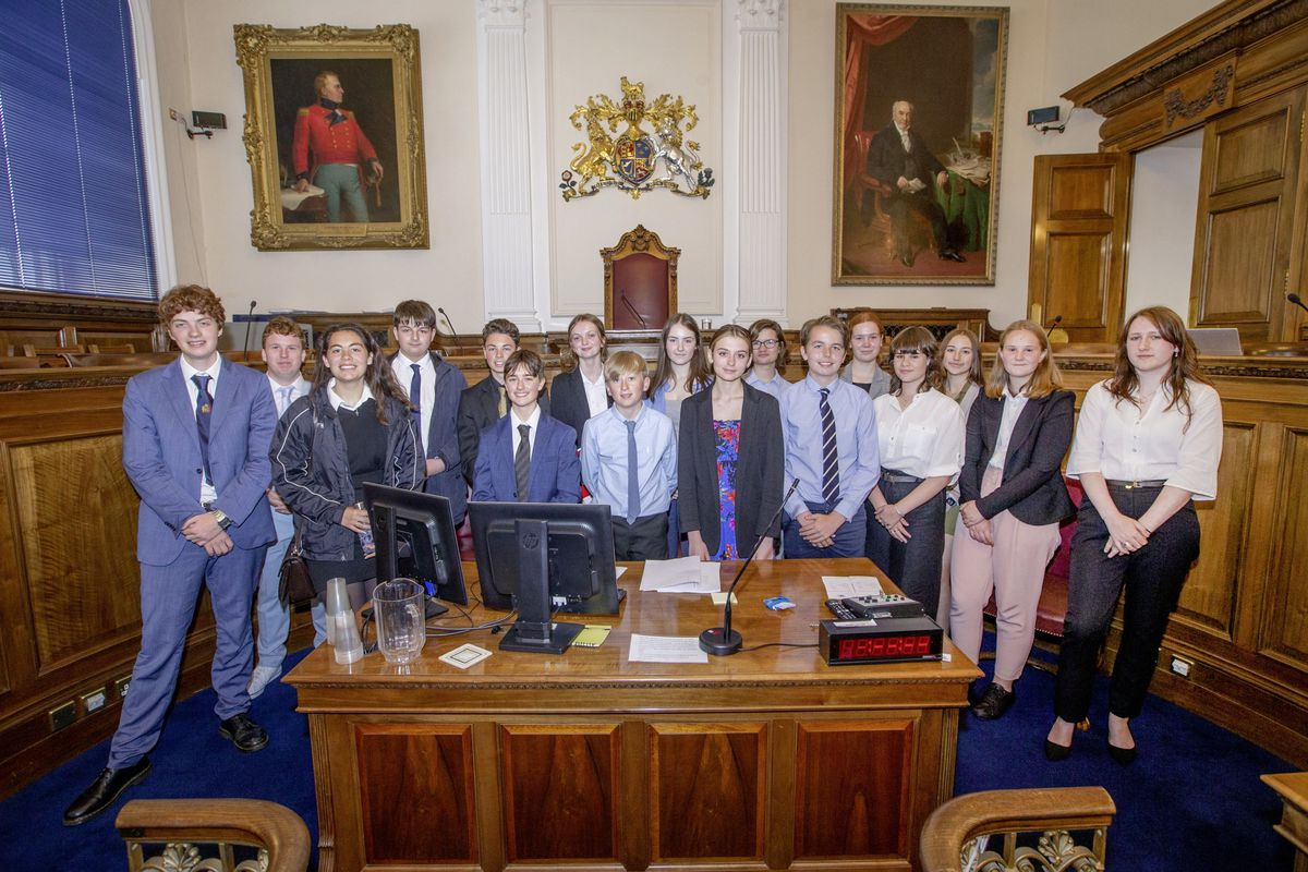 The Youth Parliment which met in the States chamber. (Picture by Sophie Rabey, 29699028)
