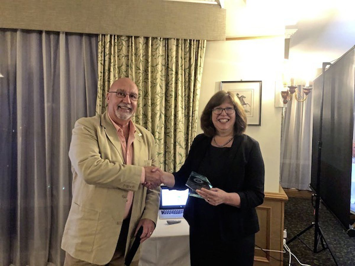 Dr Nicola Brink presented with the Rotary club of Guernsey community service award (28525651)