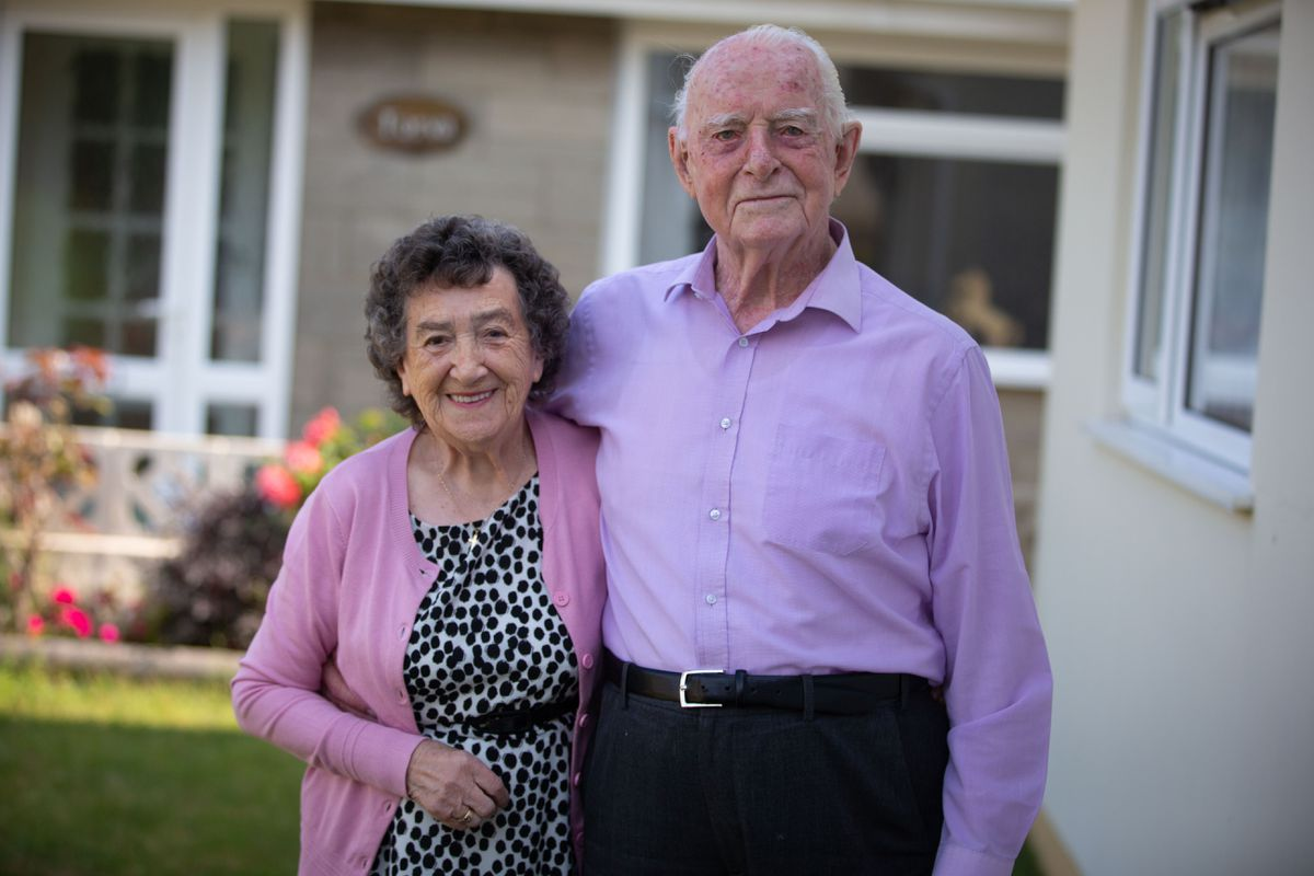 Roland and Pamela Corbin are celebrating their 65th wedding anniversary. (Picture by Peter Frankland, 29736006)