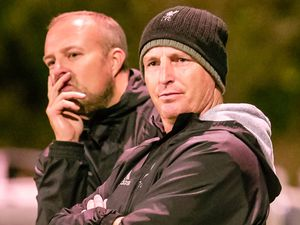Touchline worries: Manzur diehards Mark Romeril and Leighton Chainey will be wondering where next for the club that rose out of the social leagues.