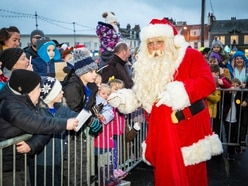 Father Christmas lights up Bridge