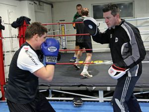 Photo By Steve Sarre 19-02-16.Amalgamated Boys Club .full time boxing feature on coaches.Ben Duff and Niall Adams. (28764860)