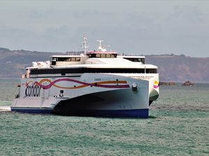 Picture by Dylan Ray. MUST CREDIT..Condor Liberation arriving back in Guernsey.. (29463793)