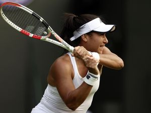 Heather Watson in action at Wimbledon where she enjoyed playing in front of her home crowds. There will be no fans cheering her on in Tokyo, though, due to the pandemic. (Picture by PA Wire, 29705435)