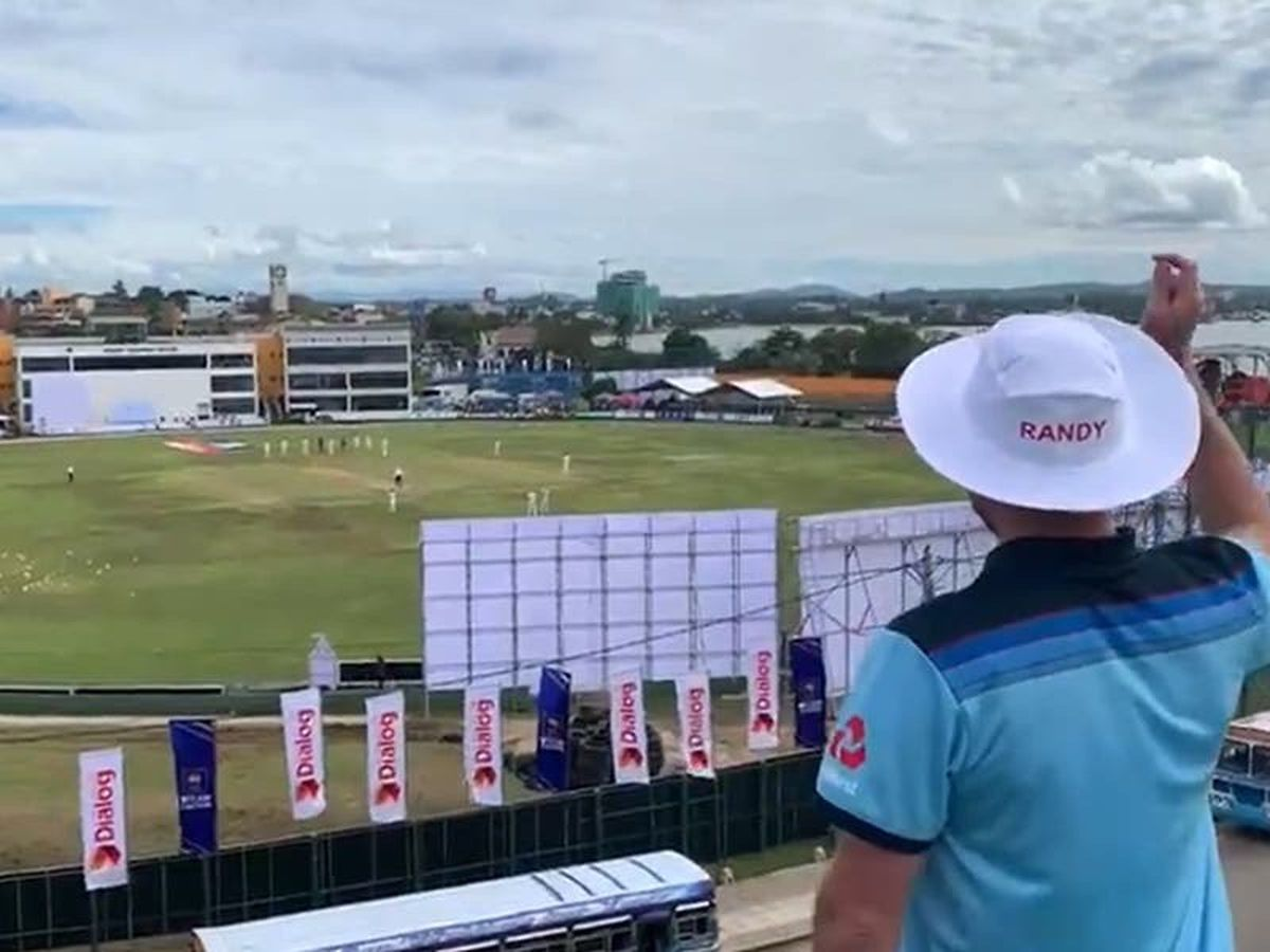 Cricket fan finally gets to see England play after 10-month wait in Sri Lanka