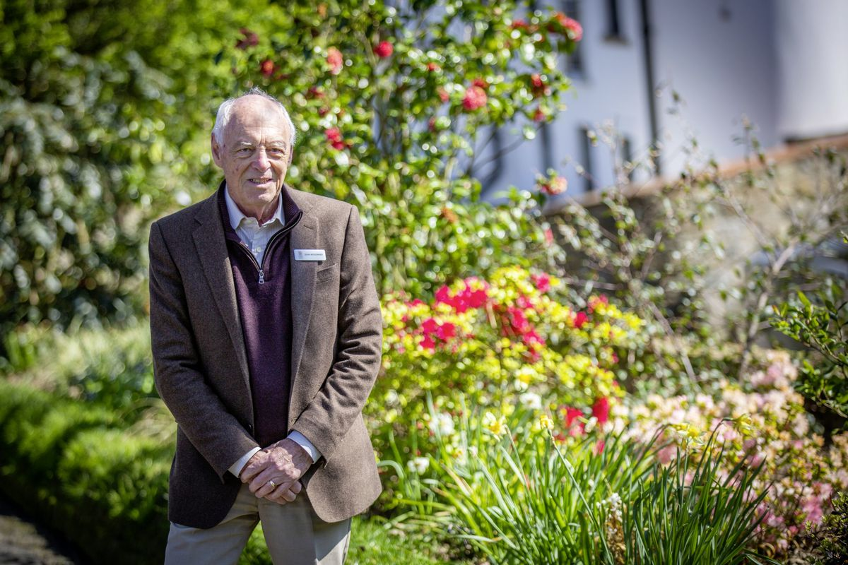 Floral Guernsey vice chairman John Woodward with the new plants at Candie Gardens. (Picture by Sophie Rabey, 29439445)