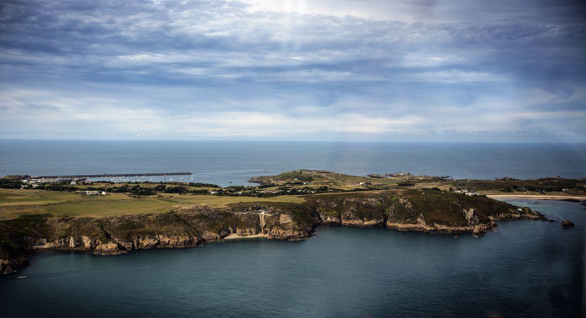 Aerial shot of Alderney. (27261885)