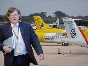 Economic Development president Deputy Charles Parkinson, with the backing of his predecessor in the post, Deputy Peter Ferbrache, will attempt today to take control of plans for the runway from Policy & Resources. (Montage by Peter Frankland)