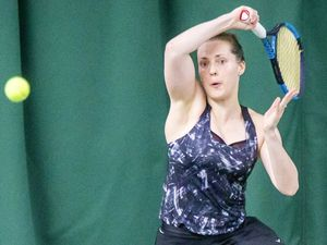 Picture by Sophie Rabey.  20-09-20.  Tennis Island Championships Finals.  Ladies Singles Final, Jo Dyer.. (28708710)
