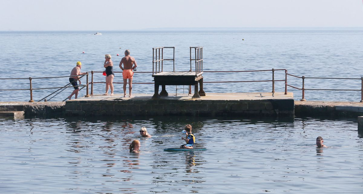 Cooling off at La Vallette during the second warmest year on record. (Picture by Adrian Miller, 29099794)