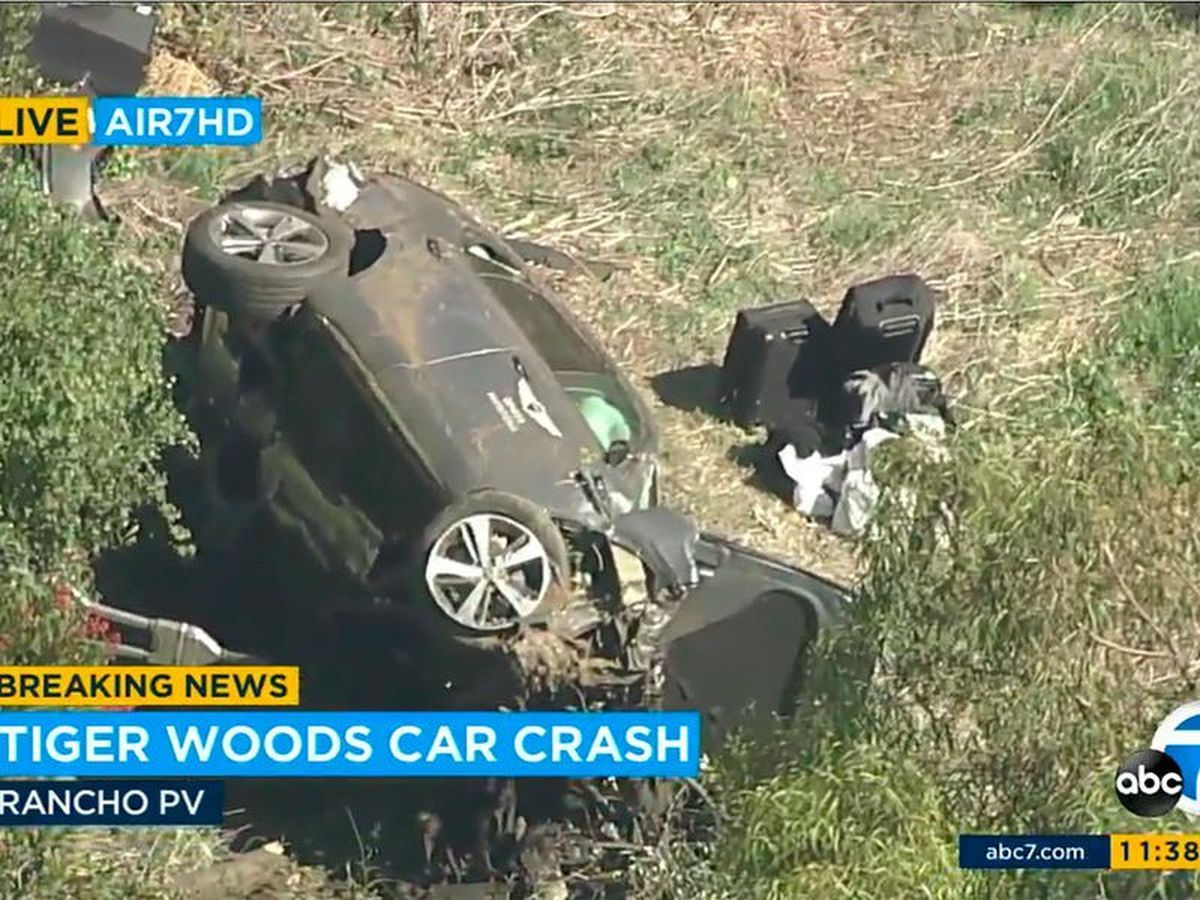 Tiger Woods in surgery for multiple leg injuries after car crash in Los Angeles