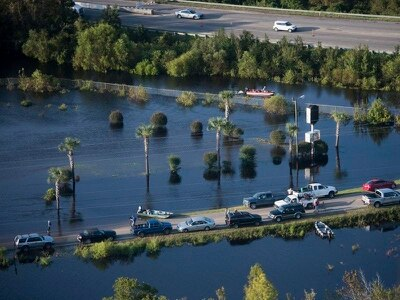 Two detainees killed as sheriff's van caught in rising floodwater