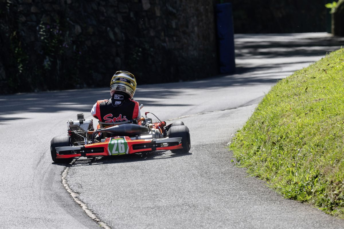 Adam Le Ray on his way to lowering the Kart 125 Gearbox record. (Picture by Andrew Le Poidevin, 29608036)