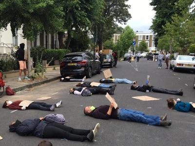 'Die-in' protest staged outside Cummings' home over Government Covid-19 response