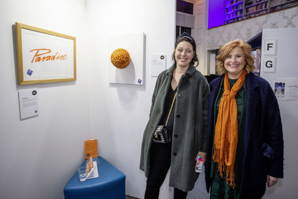 Bella Farrell and Louise Misselke at the opening of the exhibition.(26922071)