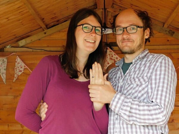 Proposal on the catwalk for Alderney Week couple