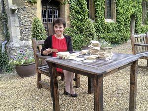 Professor Mari Jones of Cambridge University with a selection of the slips. (Picture courtesy of Alex White, 29935301)