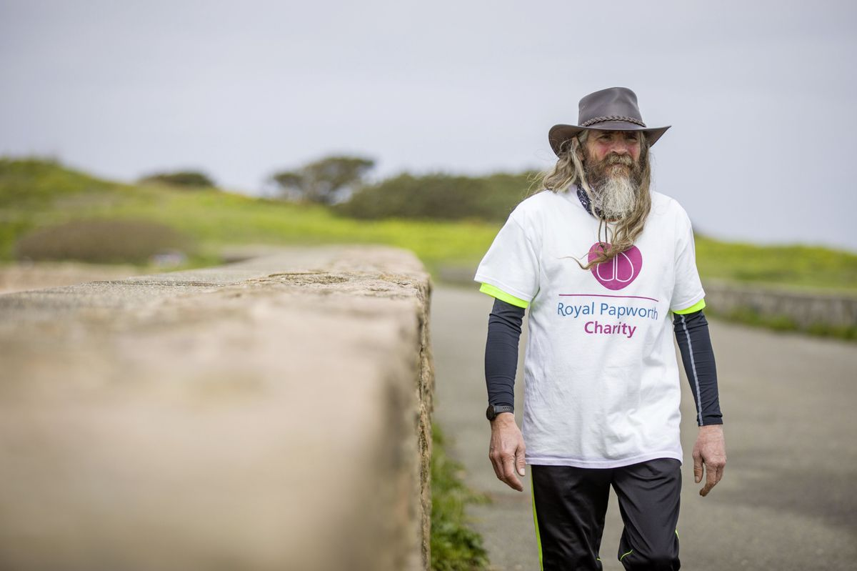 Mark Prevel has been undertaking a series of endurance challenges to raise money for three different charities. Yesterday he walked for 24 hours and completed 100,000 steps. (Picture by Sophie Rabey, 29400151)