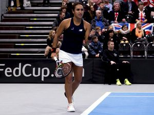 TENNIS Fed Cup Europe/Africa Group 1 play-off, Great Britiain v Hungary in Tallinn, Estonia, 10-02-18. Heather Watson..Picture @BritishTennis. (22701856)