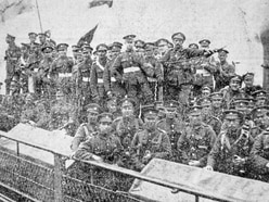100 years on: troops' return from the battlefields marked