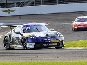 Seb Priaulx in the Porsche Carrera Cup North America meeting at Indianapolis Motor Speedway, 11-12 September 2021..Picture from @Porsche. (29981465)