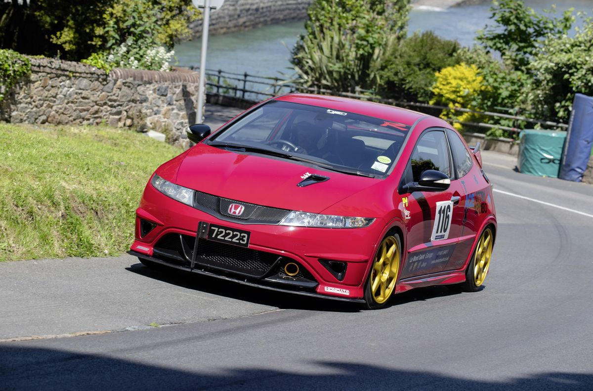 Lee Poole drove his well prepared Honda Civic Type R to a new Road Going up to 2000cc record. (Picture by Andrew Le Poidevin, 29608034)