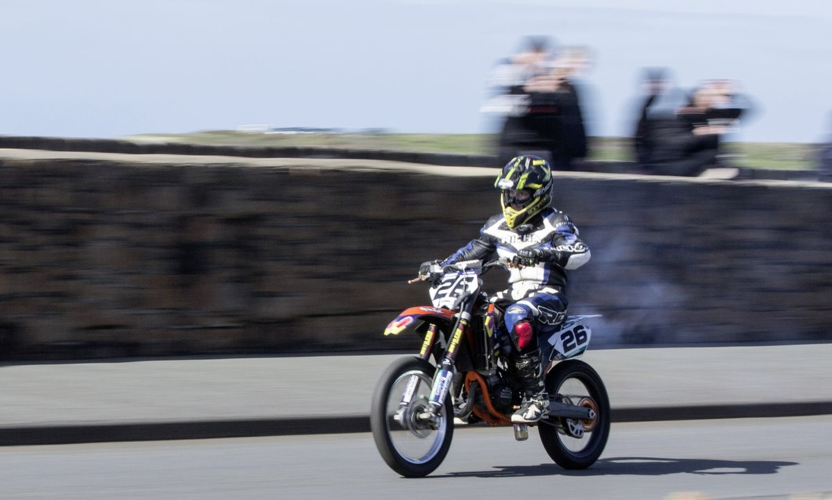 Fourteen-year-old Harry Mann was the sole record-breaker of the day on his KTM85. (29378127)