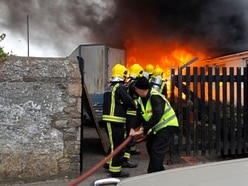Oil tank fire in Alderney