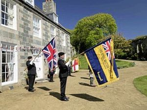 The Seigneur reads a message from the Queen on Sark's 75 Liberation Day anniversary. (28252465)