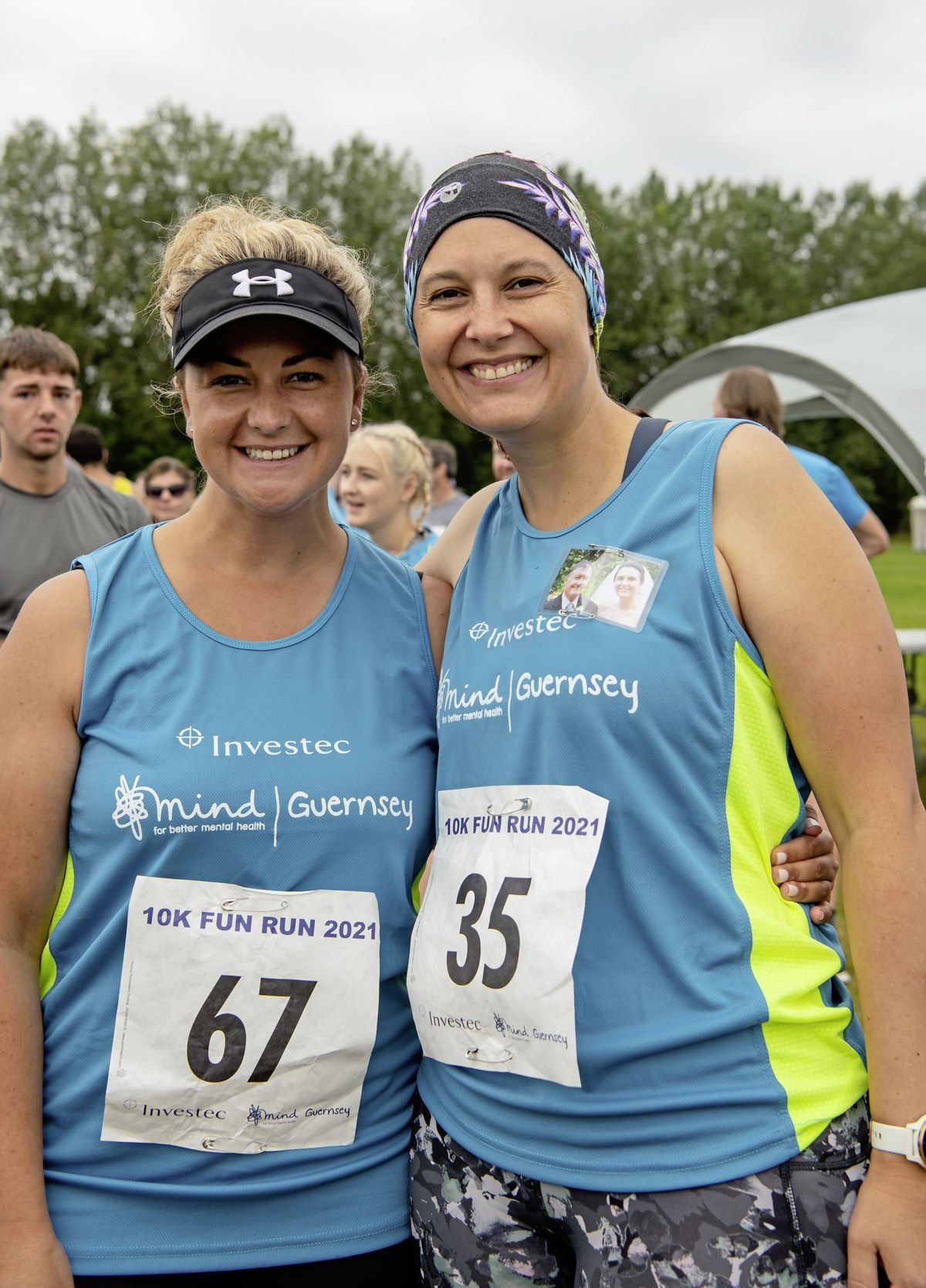South Africans Irma Pretorious, left, and Joanna Jezewska-Oudhof were taking part for the first time. Joanna was running in memory of her father, Witold Jezewski.