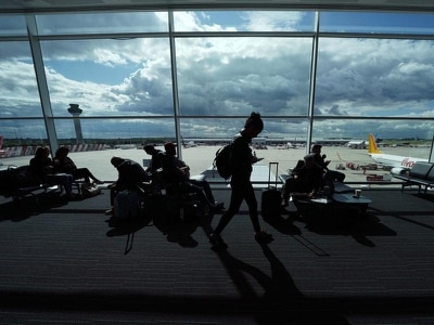 Plane taking Irish voters home for abortion referendum struck by jet on ground